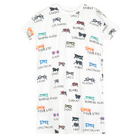 Girl's Spectacles AOP Jersey T-Shirt Dress