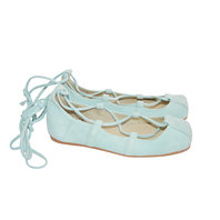 Aquamarine ballerina suede shoes