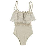 Smocked Bobbin Lace Swimsuit