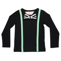 Black Suspender Look T-shirts