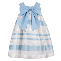 Blue & Ivory Organza Dress