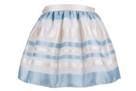 Blue & Ivory Organza Skirt