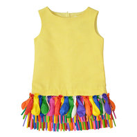 Sleeveless Party Dress with Fancy Multicolored Balloons