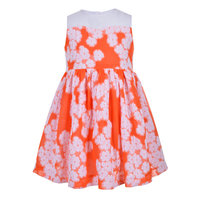Scattered floral bodice dress
