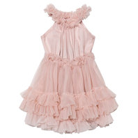 Ballet Pink Ruffled Chiffon Dance Dress