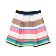 Fluo Stripe 3/4 Katie Skirt