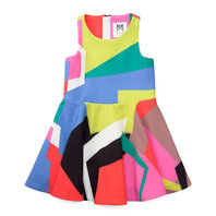 Graphic Print Flounce Dress
