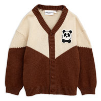 New Season: Brown Panda Knitted Wool Cardigan