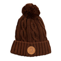 Cable Knitted Pompom Hat