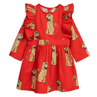 Spaniel Woven Ruffled Dress