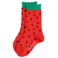 Strawberry Scallop Socks