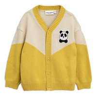 Yellow Panda Knitted Wool Cardigan