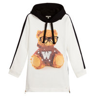 Girls Romeo Teddy Bear Sweatshirt Dress