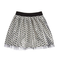 Silver and Gold Pattern Jacquard Skirt