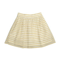 Gold and ivory striped skirt