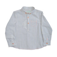 Boys striped blue shirt