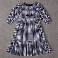 Elea Dress in Blue Gingham