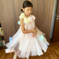 Doodle Story: Bowland Dress in Baby Pink