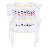 Embroidered Cotton Blouse Lupina White