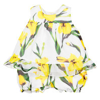 Baby Girl Yellow Floral Printed Set