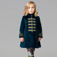 Dark Green Velvet Jara Coat