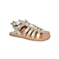 Leather sandals plagette gladiator