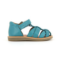 Boys leather sandals poppy pappy velcro