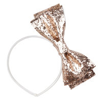 Rose Gold Glitter Bow Hairband