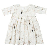 Winter Birds Fin Dress