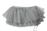 Silver Glinda Mini Wrap Skirt