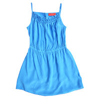 Blue Silk Sleeveless Dress