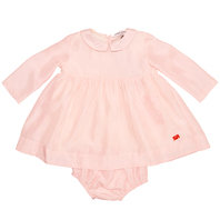 Baby pink silk dress with bloomer