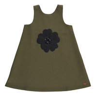 Khaki Flower Motif Dress