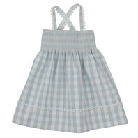 Blue Gingham Baby Dress