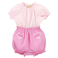 Pink Smocking Baby Girl Onesie