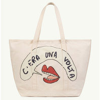 White Mouth Tote Bag