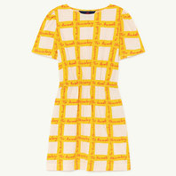 White Squares Flamingo Dress