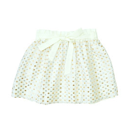 Girl's skirt gold and silver polkadot