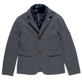 Boys Gray Cotton Jacket