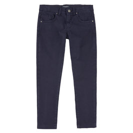 Boys Navy Blue Slim Fit Pants
