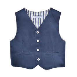 Sporty Navy Cotton Waist Coat