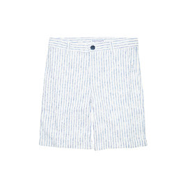 White & Blue Striped Short
