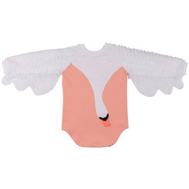 Raglan Swan Wing-Shaped Pink Dress