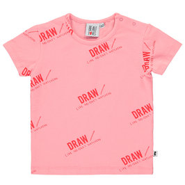 Baby Pink Draw T-shirt