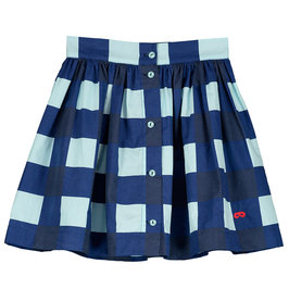 Girl Gingham Button Skirt