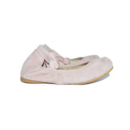 Square tip pink ballet shoes
