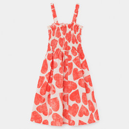 All Over Hearts Smocked Dress
