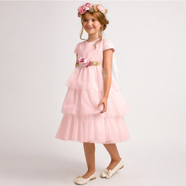 Pink Tulle Dress with Wings