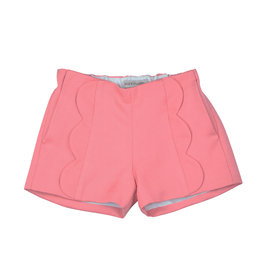Raspberry Pleated Shorts