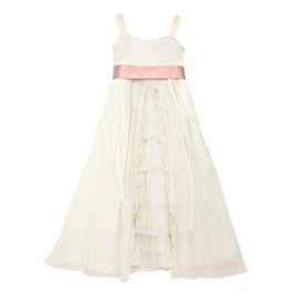 Off White Silk Chiffon Dress